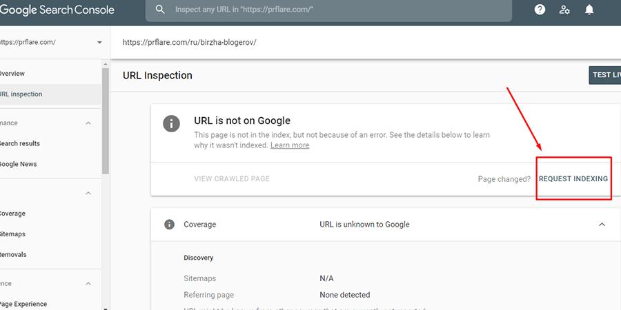 Dodanie strony do Google za pomocą Submit URL